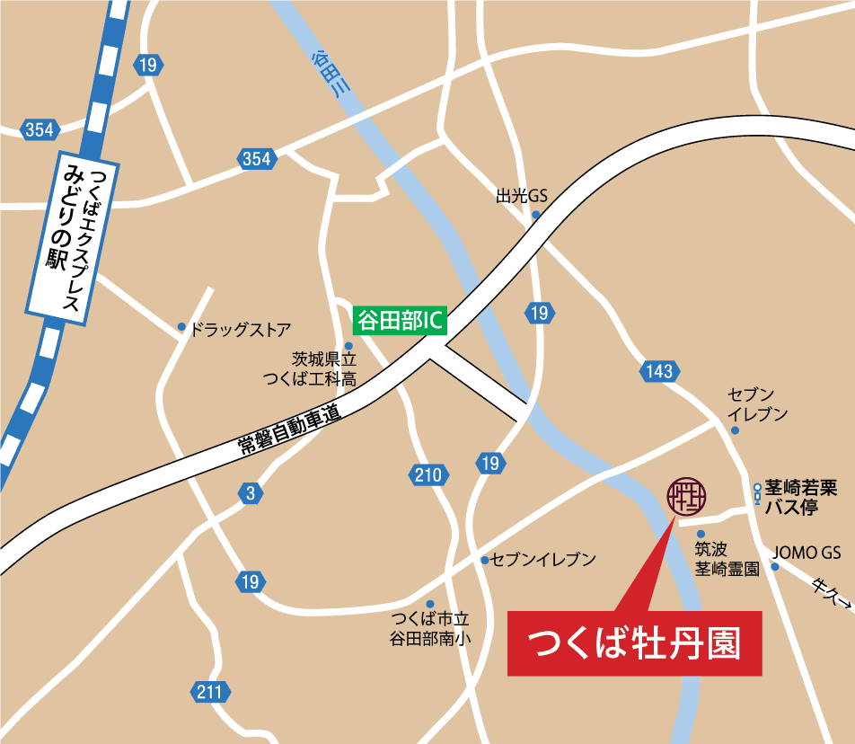 map to Peony Garden Tokyo